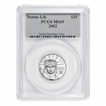 2002 1/4 oz $25 Platinum American Eagle PCGS MS 69
