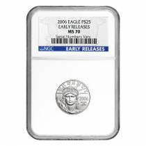 2006 1/4 oz $25 Platinum Eagle NGC MS 70 Early Releases