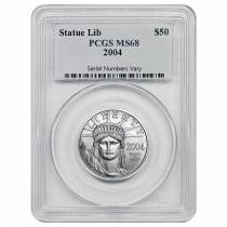 2004 1/2 oz $50 Platinum American Eagle Coin PCGS MS 68