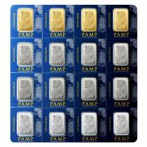 10 Grams Pamp Suisse Gold Platinum Palladium Silver Multigram Portfolio Bars (Four Metals,16x2.5 Grams)