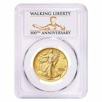 2016 1/2 oz Walking Liberty Half Dollar Centennial Gold Coin PCGS SP 69 First Strike