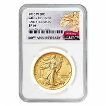 2016 1/2 oz Walking Liberty Half Dollar Centennial Gold Coin NGC SP 69 Early Releases