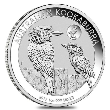 2017 1 oz Silver Australian Kookaburra Shark Privy Perth Mint .999 Fine BU In Cap