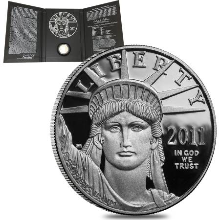 2011 W 1 oz $100 Platinum American Eagle Proof Coin (w/Box & COA)