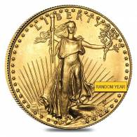 1 oz Gold American Eagle $50 Coin (Abrasions,Random Year)