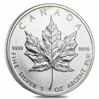 1 oz Silver Canadian Maple Leaf (Milky, Cull, Damaged, Circulated, Cleaned)