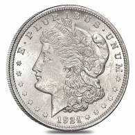 1921 Silver Morgan Dollar BU