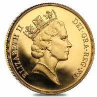 British Gold Proof Double Sovereign Coin (1980-2014, Random Year)