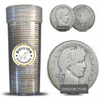 $10 Face Value Barber Quarters 90% Silver 40-Coin Roll (Circulated)