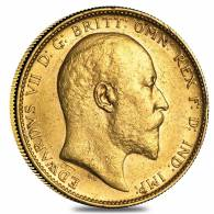 1902-1910-P Australia Gold Sovereign Edward VII Avg Circ