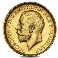 1911-1931-P Australia Gold Sovereign George V Avg Circ