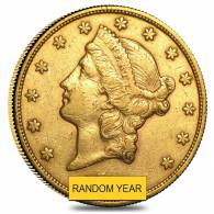 $20 Gold Double Eagle Liberty Head - Extra Fine XF (Random Year)
