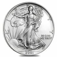 2001 1 oz Silver American Eagle Brilliant Uncirculated