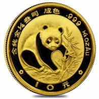 China 1/10 oz Gold Panda Proof/Unc (Random Year, Not Sealed)