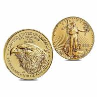14k or Jaune à 4 broches 10.00 $ Dollar 1//4 oz American Eagle Coin Lunette 22.0 mm