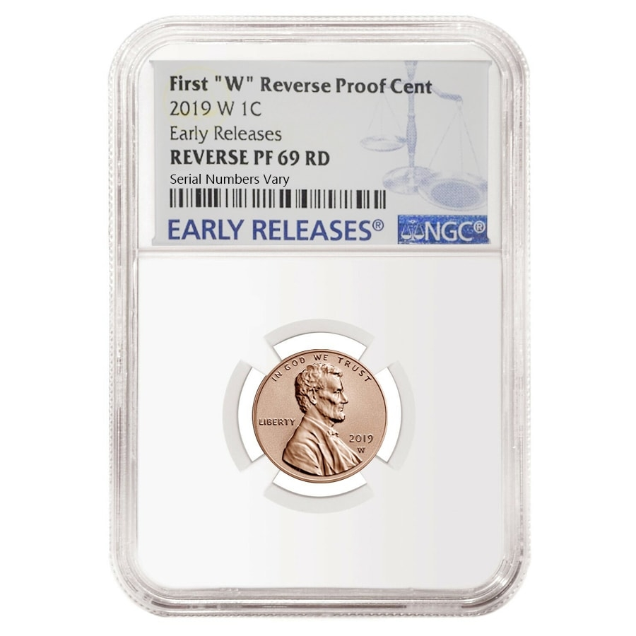 69 Lincoln Mark 3: 2019 W Reverse Proof Lincoln Penny Cent Comm