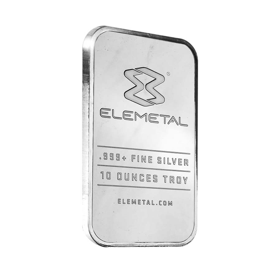 Elemetal Mint 10 Oz Silver Bar 999 Fine Sealed Ebay