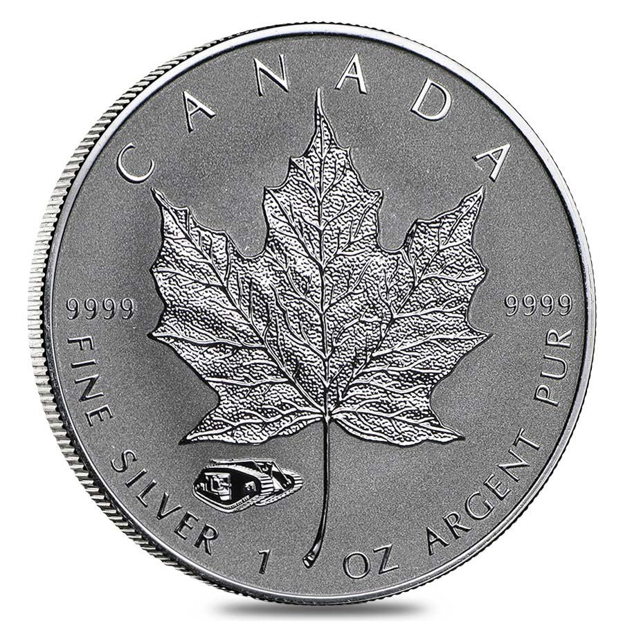 Roll of 25 - 2016 1 oz Silver Canadian Maple Leaf Mark V ...