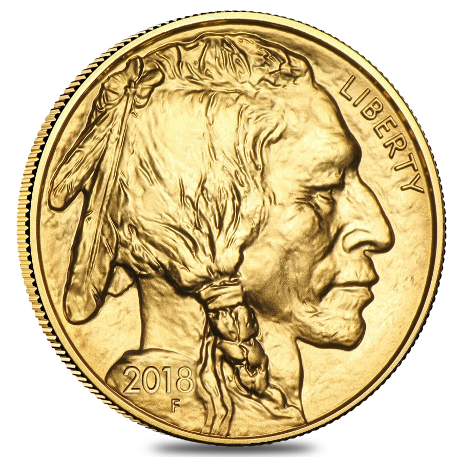 2018 1 oz Gold American Buffalo $50 Coin BU