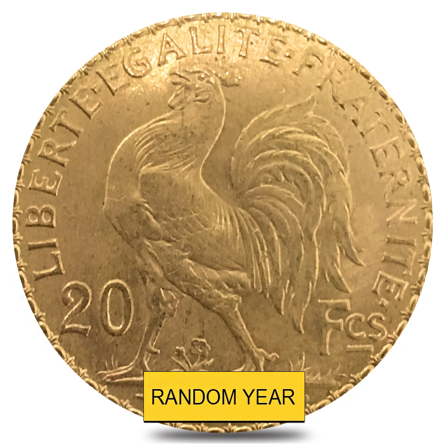 French Rooster Gold Coin Au Agw 1867