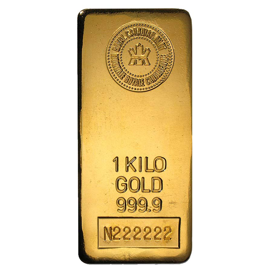 1 Kilo Royal Canadian Mint Rcm Gold Bar 9999 Fine Ebay