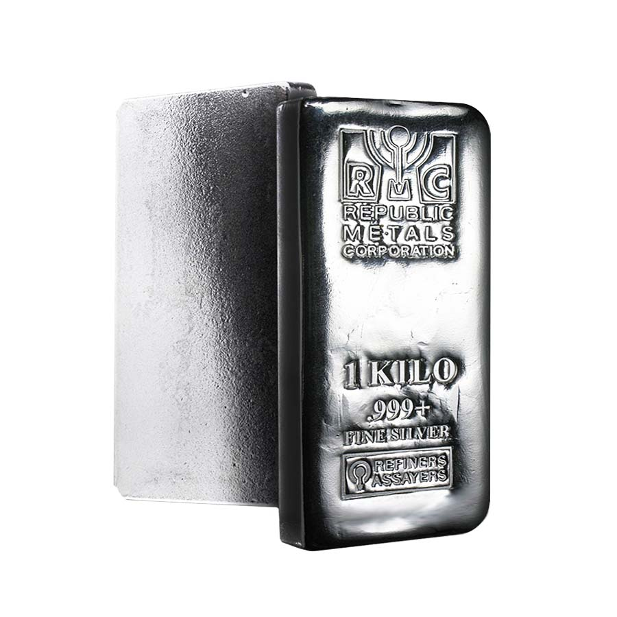 1 Kilo Republic Metals Rmc Silver Bar 999 Fine Ebay