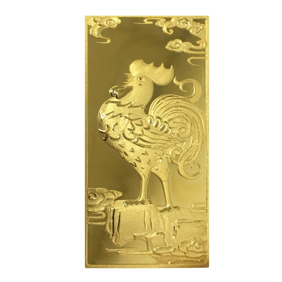 30 Gram China Construction Bank Ccb Year Of The Rooster Gold Bar 9999