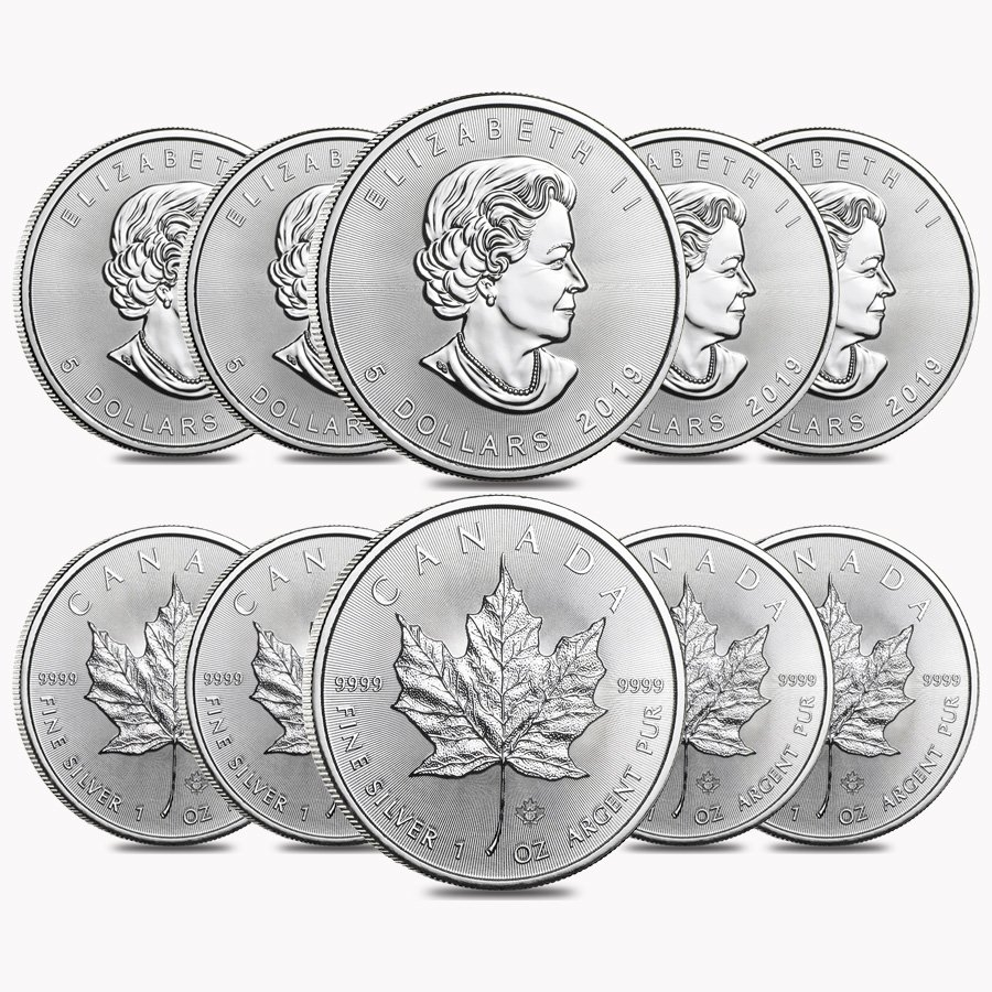 BU, Lot of 5 5 oz Total .9999 fine 2012 1 oz Silver Canadian Cougar Coins