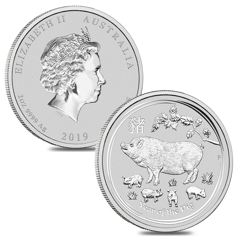 2018 Year of the Dog 1//2 oz Silver CoinPerth Mint Lunar Series II