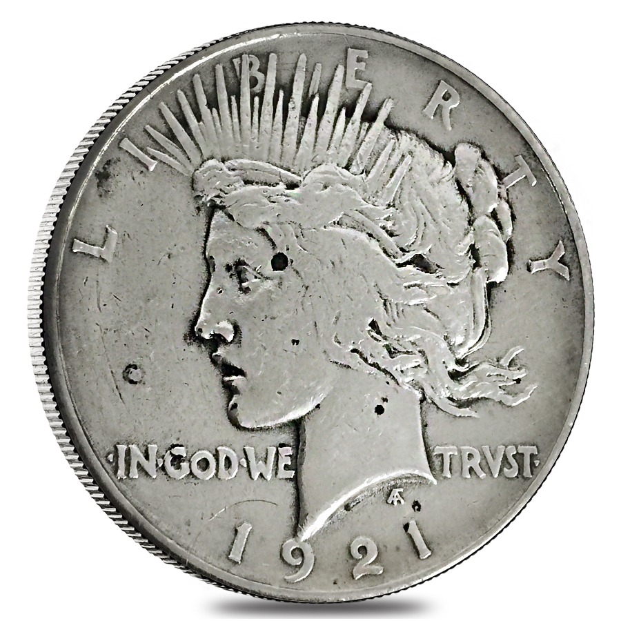 1921 Silver Peace Dollar High Relief Vg Xf Ebay