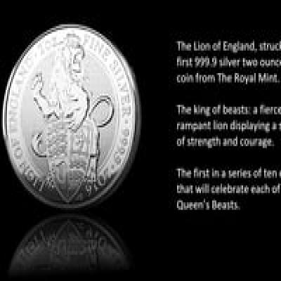 2016 Great Britain 2 oz Silver Queen's Beast Coin .9999 Fine BU