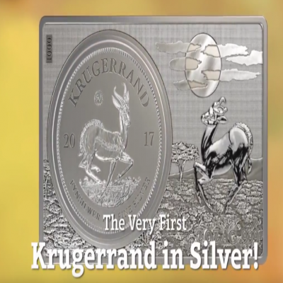 2017 South Africa 3 oz Silver 50th Anniv of the Krugerrand Coin & Bar Set (w/Box & COA)