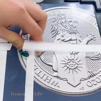 2020 2 oz Silver Queen's Beasts White Lion Coin Unboxing