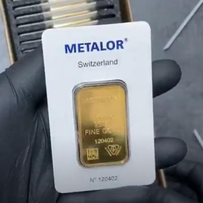1 oz Metalor Gold Bar .9999 Fine (In Assay)