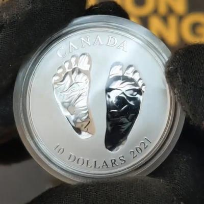 2021 Canada 1/2 oz Silver Welcome to the World Baby Gift Coin by Bullion Exchanges