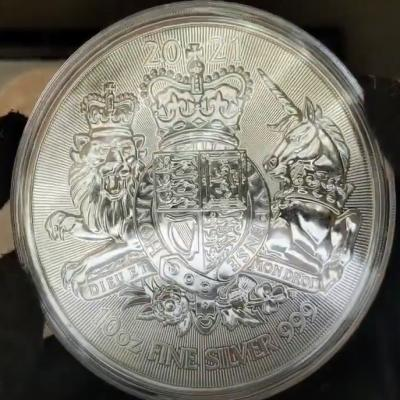2021 Great Britain 10 oz Silver Royal Arms Coin Unboxing at Bullion Exchanges