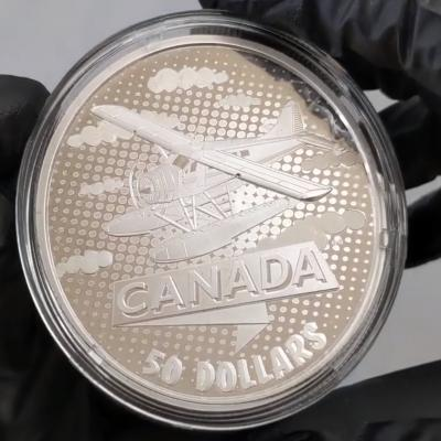 2021 Canada 5 oz First 100 Years of Confederation - Canada Takes Wing Proof Silver Coin