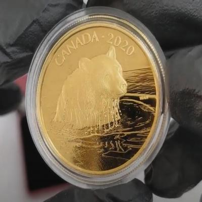 2020 Canada 35 gram Proof Gold Coin The Grizzly Bear Wildlife Portraits Bullion Exchanges