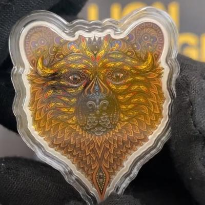 2021 1 oz Grizzly - Spirit Animals Colorized Silver Coin at Bullion Exchanges