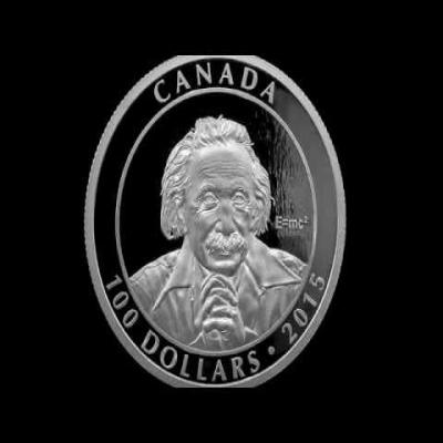2015 10 oz Royal Canadian Mint $100 Albert Einstein Special Theory of Relativity Silver Coin - Mintage 1,500