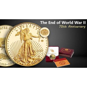 US Mint Strikes WWII Anniversary American Eagle Coins